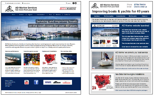 AD Marine Services website